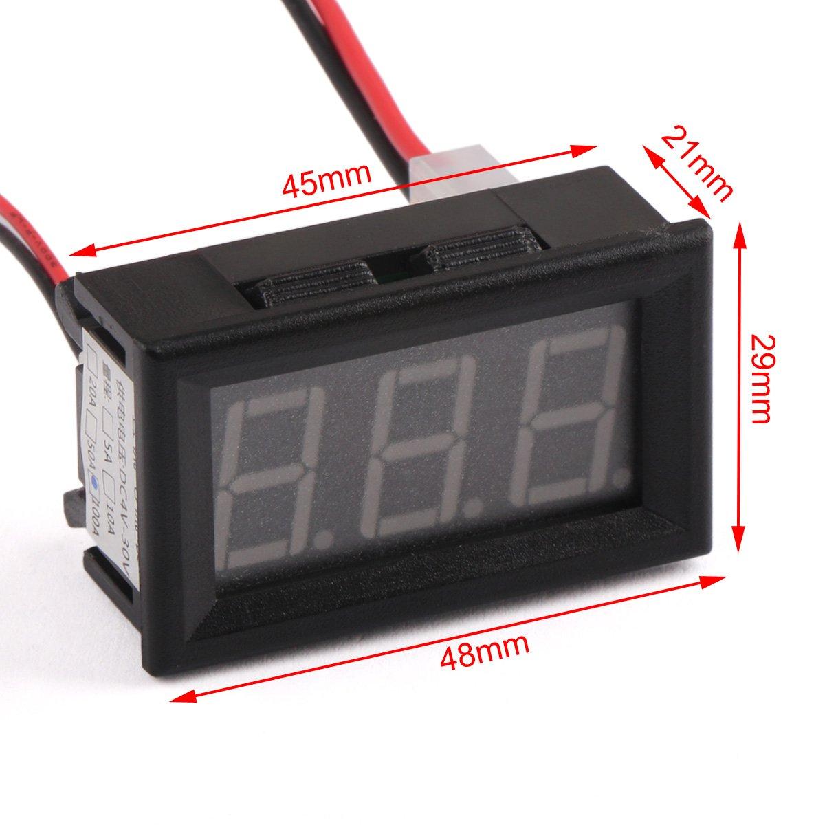 Dc Amp Meter Drok Small Digital Ammeter Gauge Ampere Voltmeter Wiring Diagram Sun Reader 056 100a Electric Current Detector 0 To 999a Amperage Tester Panel Blue Led
