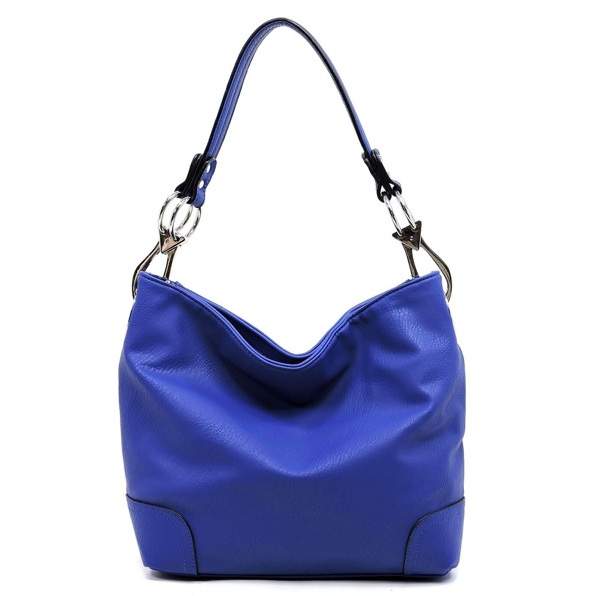 Elphis Fashion Classic Shoulder Bag Hobo Bucket Handbag Purse (79-Royal Blue)