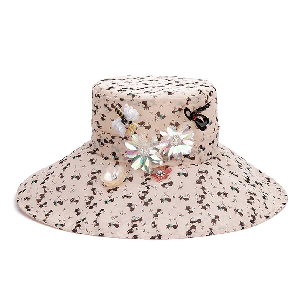 レーヨンレディ旅行ショッピング日焼け止め通気性日焼け止めUV保護エレガントクイーンハット  Hat+scarf B07PM2Q7XK
