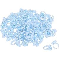 segolike 100PCS Disposable Plastic Nail Art Tattoo Glue Rings Holder Eyelash Extension Rings Adhesive Pigment Holders…