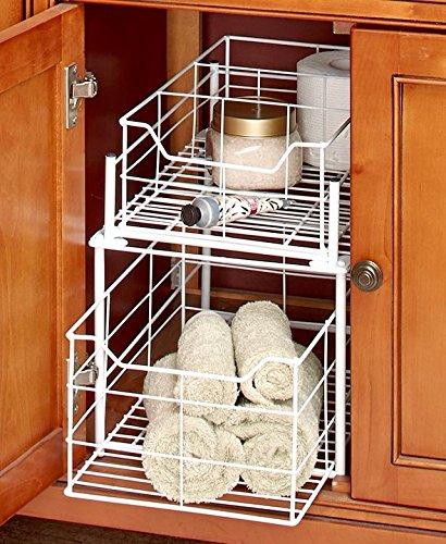 Multipurpose Cabinet Basket (White)
