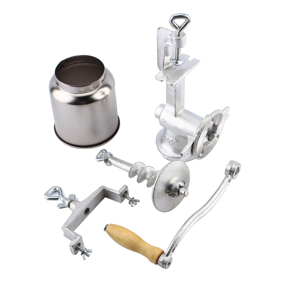 Corn Grinder,Premium Quality Cast Iron Hand Crank Manual Grain Grinder Portable Table Clamp Mill Maker Hand Corn Mill with High Hopper for Wheat Grains coffee Nut Mill Tall