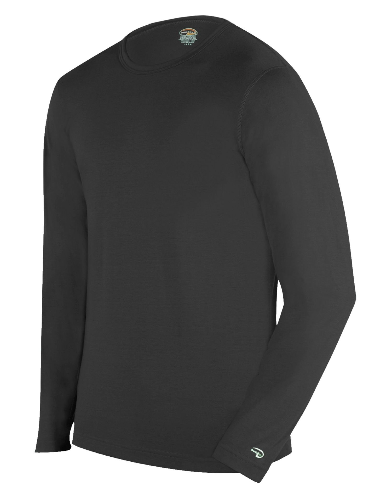 Duofold Men's Expedition Weight Two-Layer Thermal Tagless Crew, Black, Medium