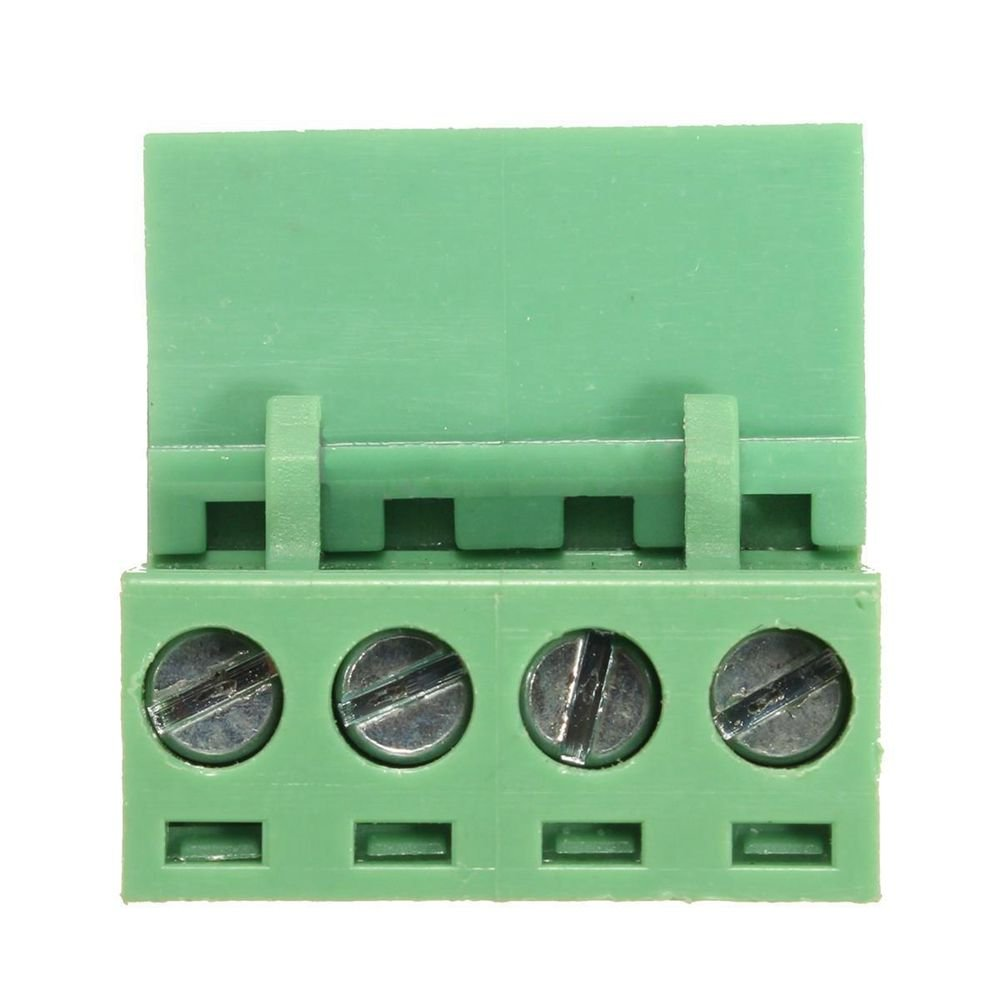 SODIAL(R) 10x 2EDG 4Pin 5.08mm Pitch Plug-in Screw Terminal Block Connector Right Angle