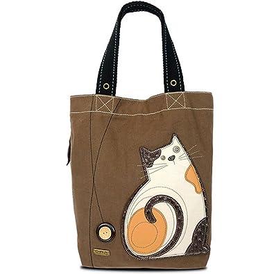 Chala Simple Tote, Canvas Handbag, Snap Top, Animal Prints (Lazzy ...