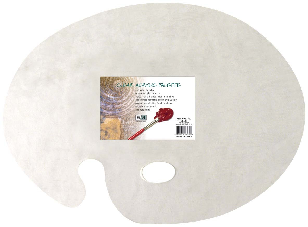 Art Advantage 18-Inch by 24-Inch Clear Acrylic Palette (6957-07)