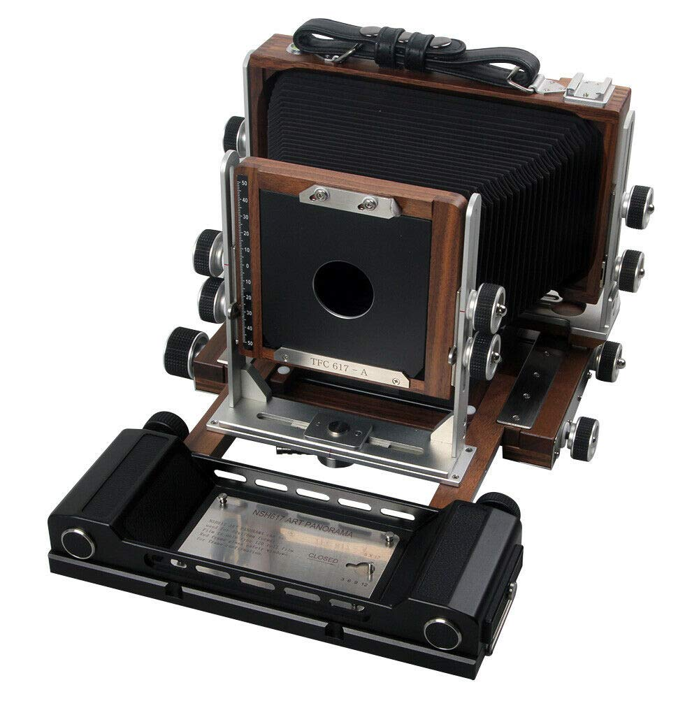 Shen Hao SH-TFC617-A Walnut Wood Camera 6x17cm Non Folding Panorama Roll Film Back with Ground Glass by Shen Hao
