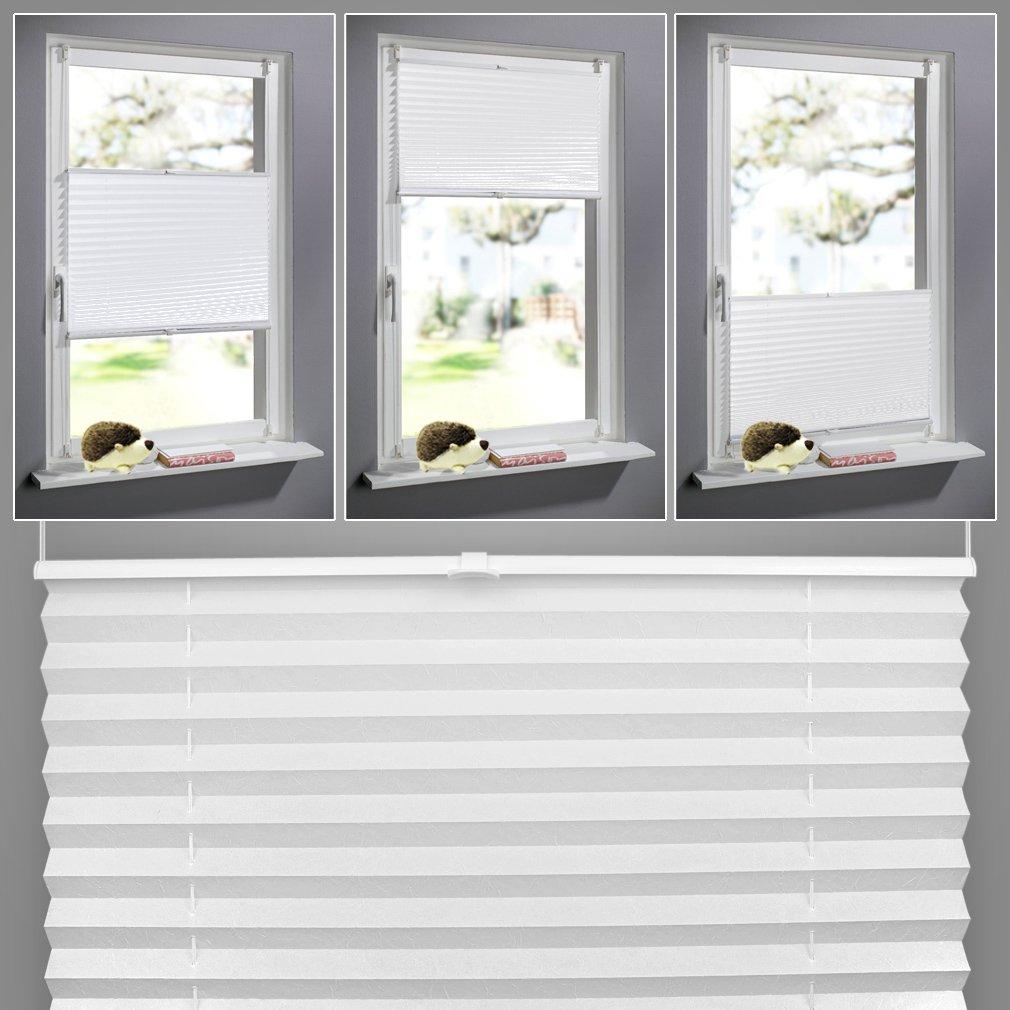 SHINY HOME® Haute Qualité 60x130cm Store Plissé Rideau Plissé Stores Bouffant La Fenêtre A Battants (Blanc) Union ca