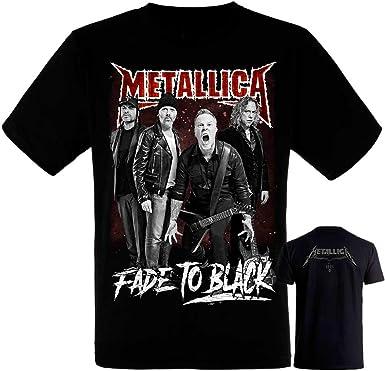 Metallica-Band- Grupo - Camiseta Negra Hombre Manga Corta - Metallica Tshirt: Amazon.es: Ropa y accesorios