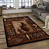 Allstar 5 X 7 Berber Woven Soft Southwest River Theme Area Rug (5′ 2″ X 7′ 2″) Review