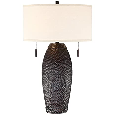 Beau Noah Hammered Bronze Table Lamp