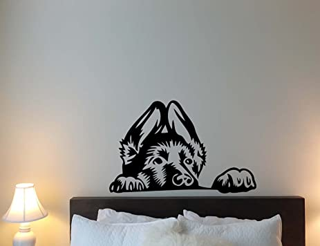 Amazoncom German Shepherd Wall Decal Dog Pet Puppy Children - Custom vinyl wall decals dogs
