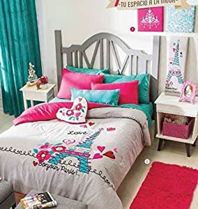 WPM Dinosaur BLUE print bedding set choose from Full/Twin comforter or bed sheets or window curtains panels for kids/girls/boys room (Window Curtain).
