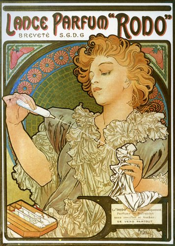 (1896 Lance Parfum Rodo Perfume Lady French France By Alphonse Mucha Was a Czech Art Nouveau Painter and Decorative Artist 12