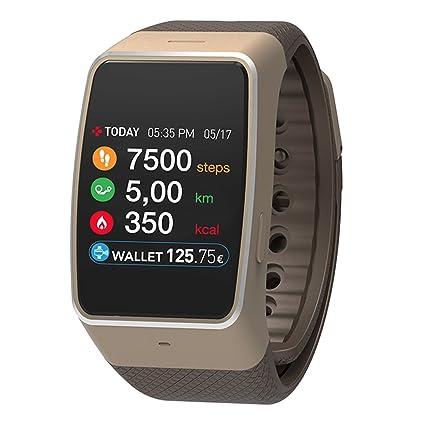 33398b077 MyKronoz ZeWatch4 Smart Watch and Activity Tracker - Gold: Amazon.ae