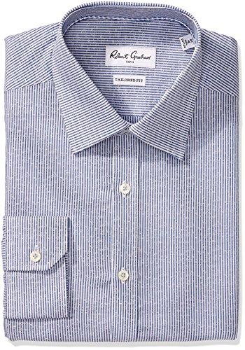 Robert Graham Men's Slim Fit Jacquard Stripe Dress Shirt,...