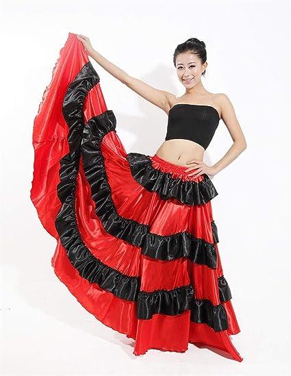 Mcaishen Falda De Baile para Mujer Falda De Baile Taurino Español ...