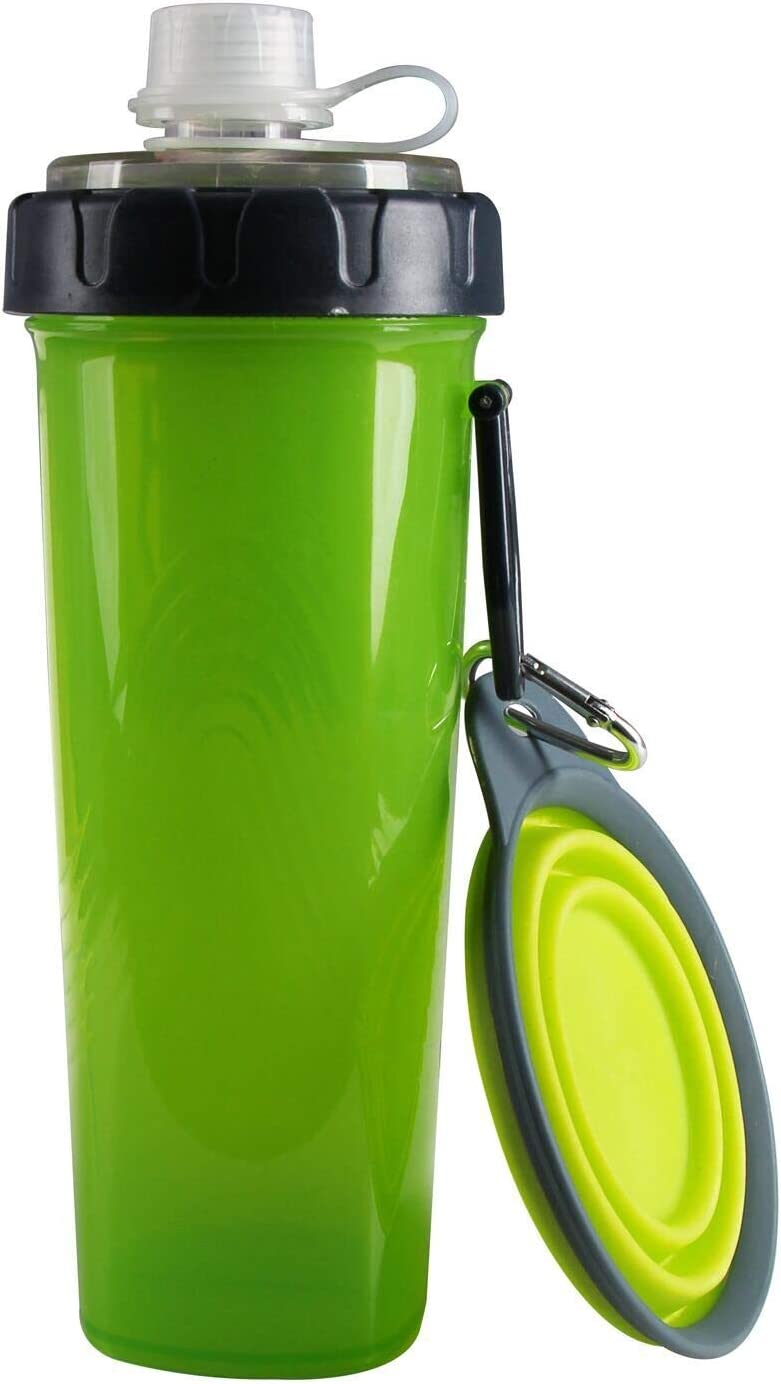 NVTED 2 in 1 Dog Water Bottle Dog Bowl, Multifunctional Portable Dog Food Container and Dog Water Bottle