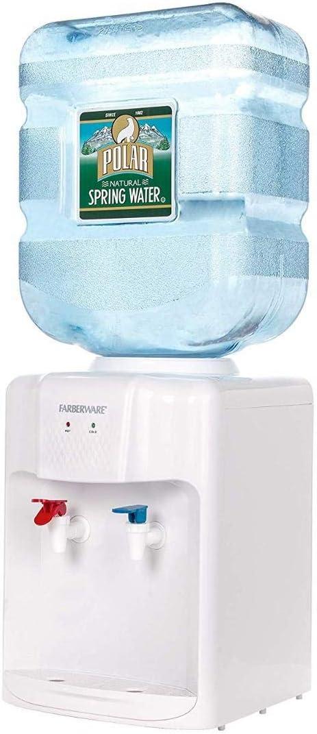Farberware FW-WD211 Independiente Agua Caliente y fría del refrigerador del dispensador, encimera Blanca: Amazon.es: Hogar