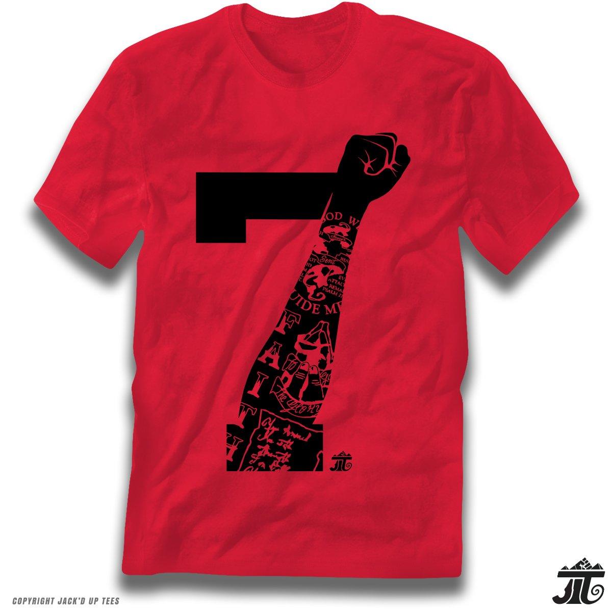 712bff579 '7 Tattooed Fist up High' Kap Premium Unisex T-Shirt   Amazon.com