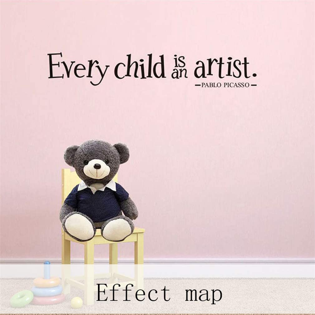 Every Child is an Artist Wall/Decals,Vinyl/Removable/PVC/Stickers/Decor for/Home/Bedroom/Living/Room Decoration 3.9/×23.6 in