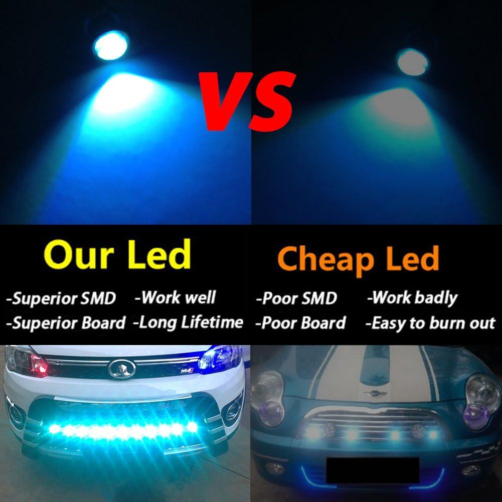 TABEN 10 x 9W LED Eagle Eye Light 23mm 5630 3SMD Car Fog DRL Daytime Running Light Reverse Backup Parking Signal Green Bulb 12V