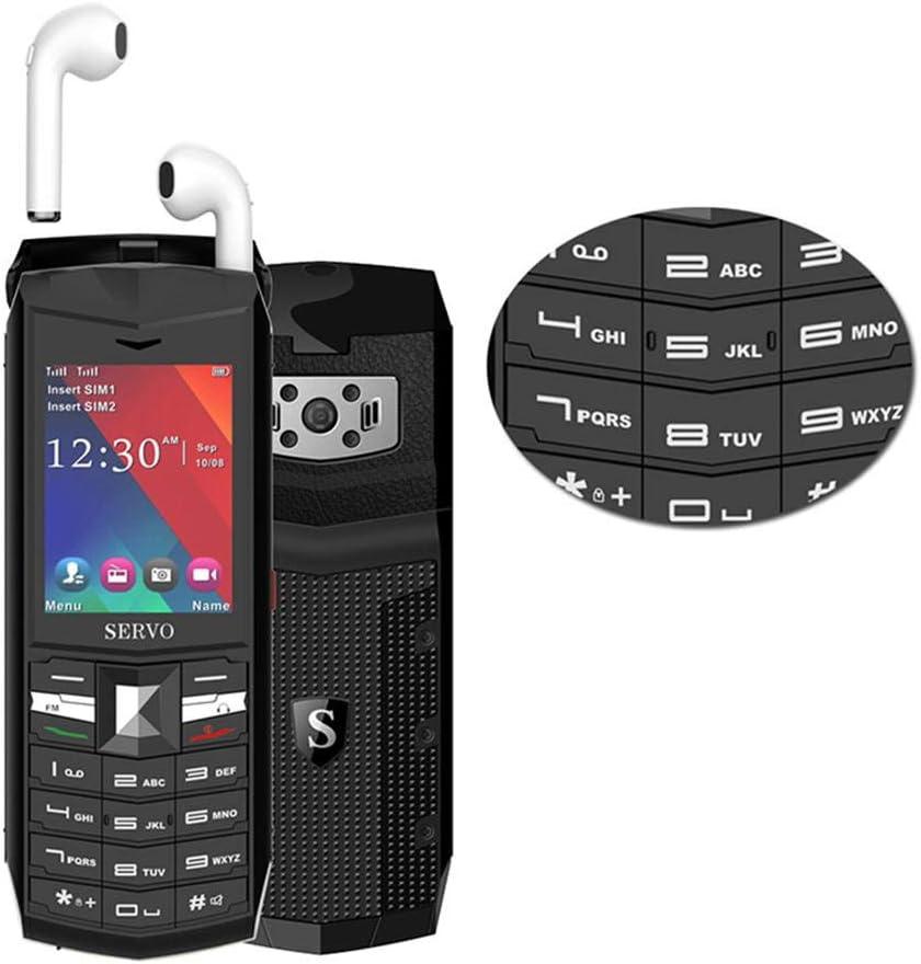 Peedeu - Teléfono móvil con botón Grande para Personas Mayores, Tarjeta Dual gsm de 2,4 Pulgadas con Altavoz Extra Fuerte, Auriculares inalámbricos Bluetooth 5.0 TWS: Amazon.es: Electrónica