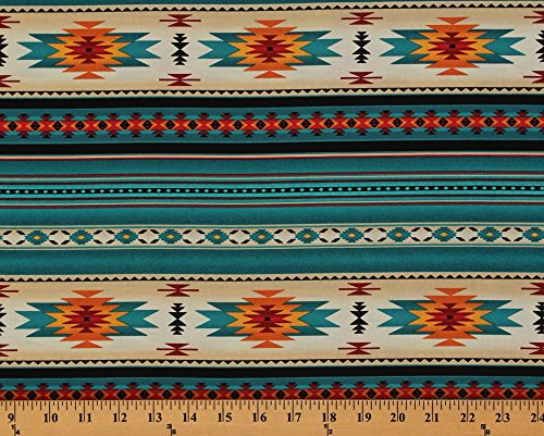 Cotton Southwestern Native American Azte - Native American Fabric Shopping Results