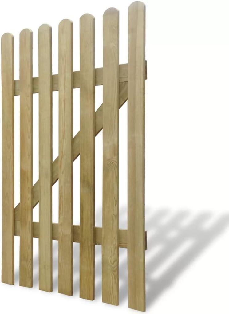 vidaXL Puerta de Vallado Jardín Cancela Exterior Valla de Madera de Pino 100x150 cm: Amazon.es: Bricolaje y herramientas