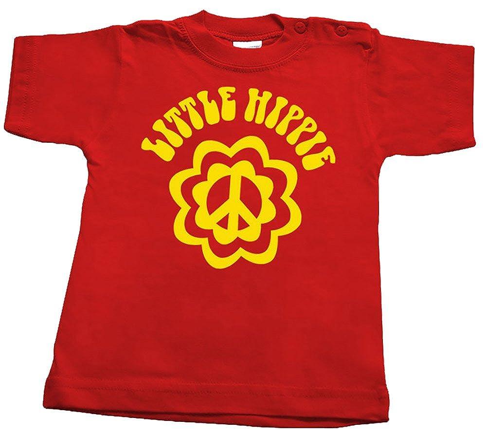 LITTLE-racker n-roll hIPPIE t-shirt b/éb/é-rouge