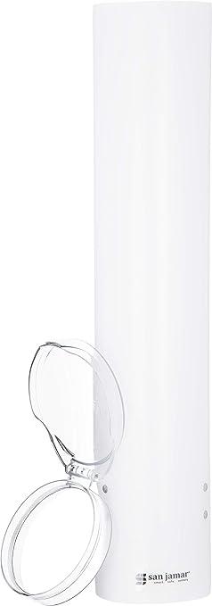 San Jamar C4160WH Dispensador de vasos de plástico, para vasos cónicos de 90-130 ml y vasos planos de 90 - 150 ml, 24 unidades, color blanco: Amazon.es: ...