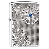 Zippo High Polished Chrome Armor Nautical Waves Pocket Lighter