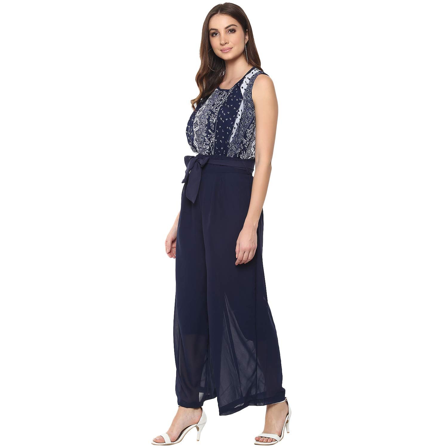 af35442e23e6 Mayra Women s Georgette Casual wear Jumpsuit  Amazon.in  Clothing    Accessories