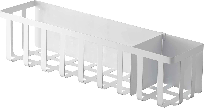 YAMAZAKI home Kitchen Storage Basket-Utensil Wall Organizer, Magnetic Holder, One Size, White