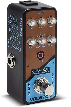 Valeton Coral Cab Cabinas de respuesta de impulso IR Simulador Guitarra Bass Cab Pedal de efectos Sim