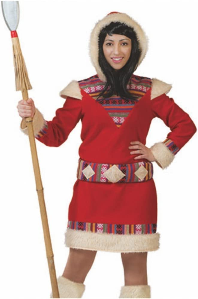 Krause & Sohn Disfraz de Mujer Esquimal 36-46 Indio Inuit (44/46 ...