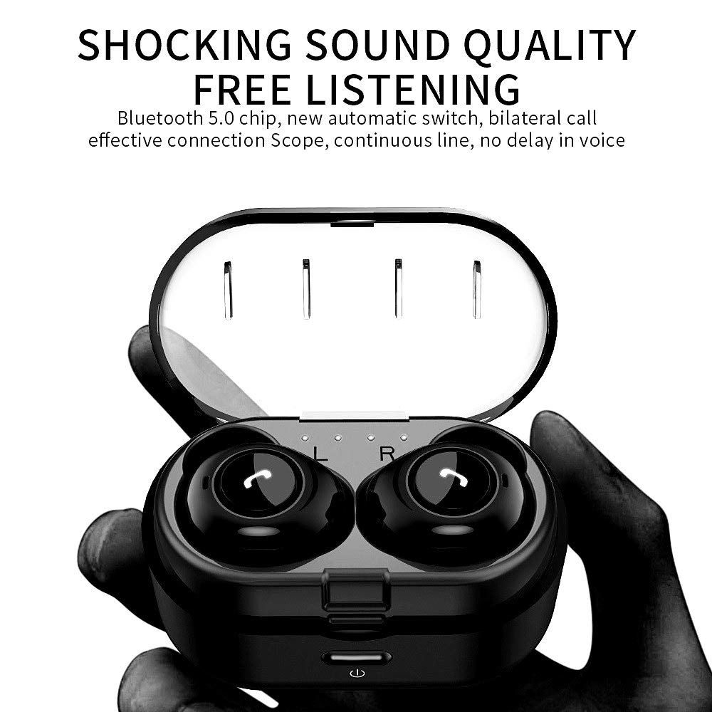 Wireless Earbuds, Bluetooth Headset PX7 Waterproof Wireless Headset Bluetooth Headset Hands-Free 5.0 Sports Sweat-Proof Stereo Mini in-Ear Headphones Noise Reduction 3D Surround Sound for iOS Android