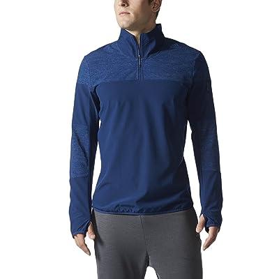 .com : adidas Men's Running Supernova Storm 1/2 Zip Jacket, Mystery Blue, Small : Clothing