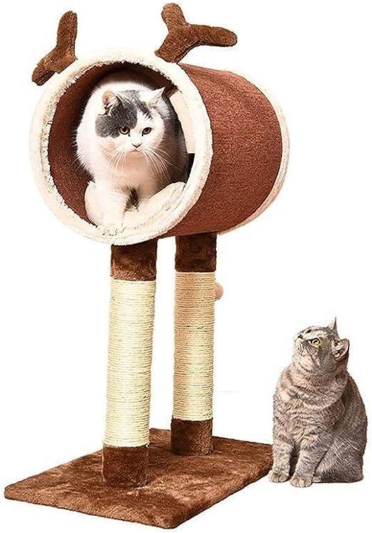 Juguete para Mascotas con Escalada para Gatos, Cama para Mascotas, 3 en 1, diseño Lindo para brotes de Soja para Nido de Gato (marrón, Mediano) 61x35x81.5cm: Amazon.es: Productos para mascotas