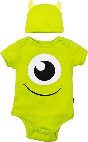 c3944687a Disney Pixar Monsters Inc. Mike Wazowski Baby Boys' Costume Bodysuit & Hat  Green (