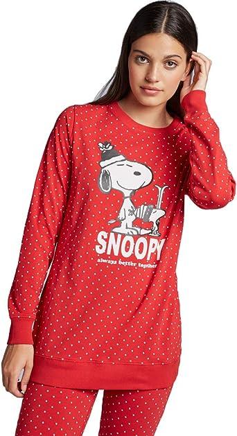 GISELA - Pijama Mujer Snoopy Lata Mujer