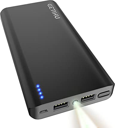 Amazon.com: getihu Cargador portátil 13000 mAh Power Bank ...