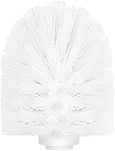 TOPBATHY 1pcs Toilet Brush Head Replacement with Durable Stiff Bristles for Bathroom (White)