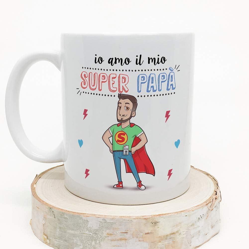 Idee regali originali Festa della Mamma Tazza Super Mamma migliori del mondo MUGFFINS Madre