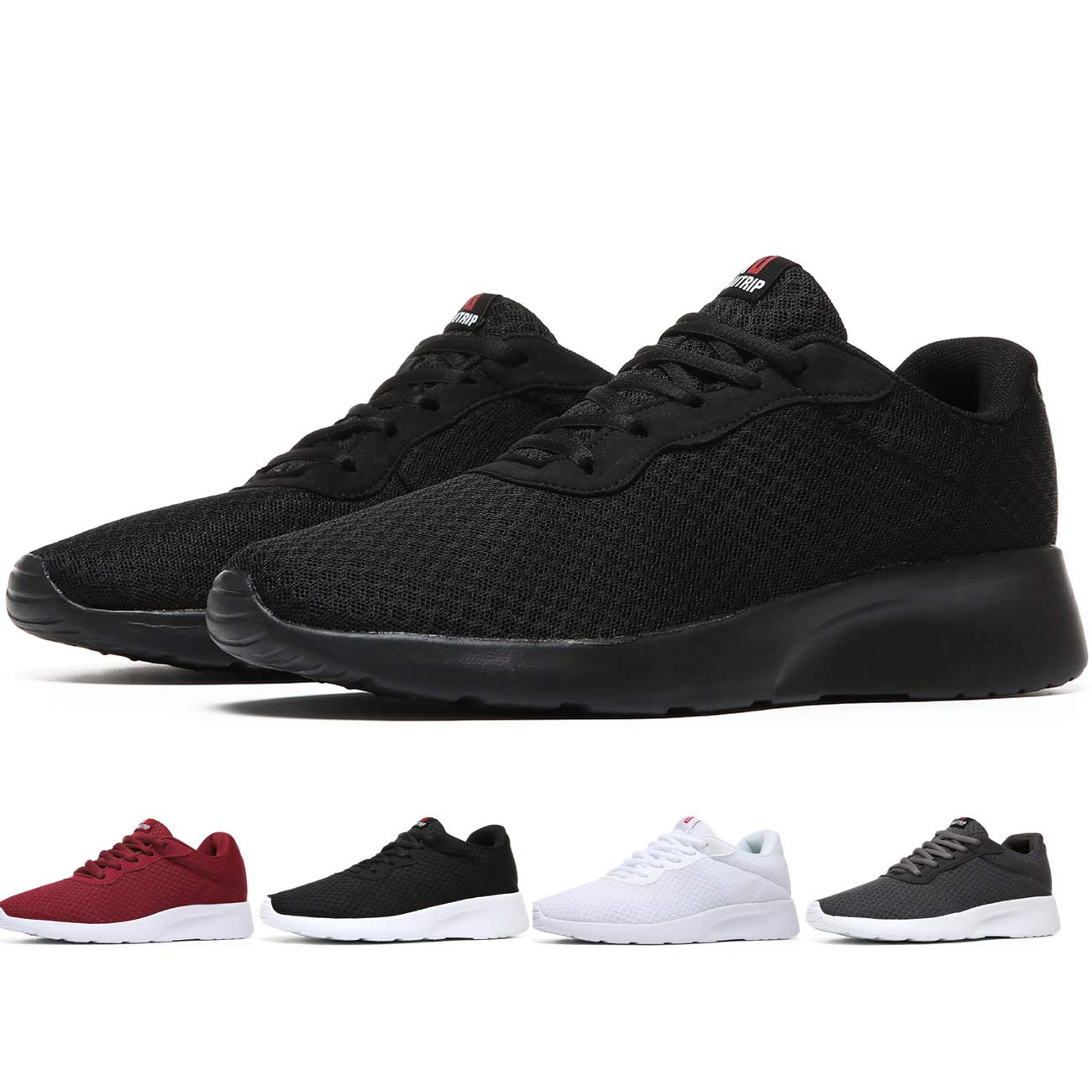 MAlITRIP All Black Athletic Shoes Men Casual Cool Light Comfort Fashion Walking Running Training Workout Sneakers Gifts for Father's Day Young Mens Size 11 by MAlITRIP