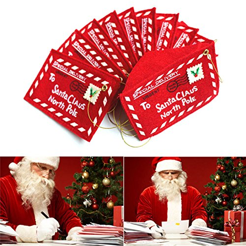 Jocestyle Santa Claus Gift Money Card Holders with Envelopes Christmas Ornament Decor Set of 10 (For Gift Envelopes Christmas Cards)