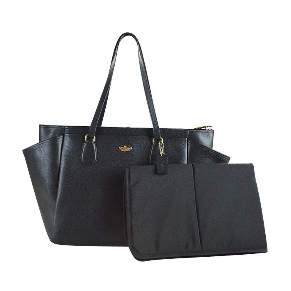 b28b37d68 Amazon.com   COACH Crossgrain Leather Baby Diaper Multifunction Bag in  Light Gold   Black 35702   Baby