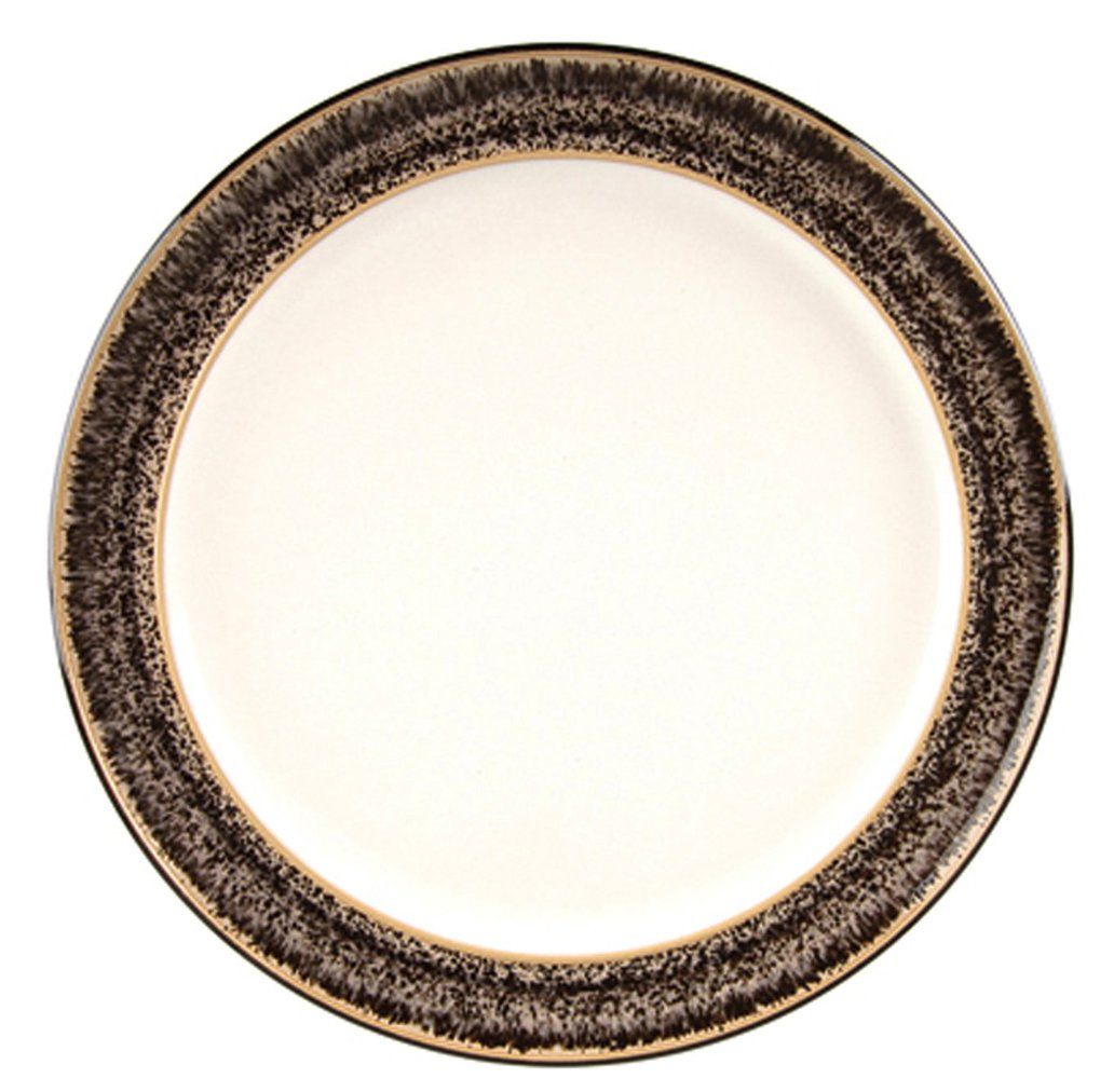 Denby Praline Wide Rimmed Dessert/Salad Plate, Set of 4