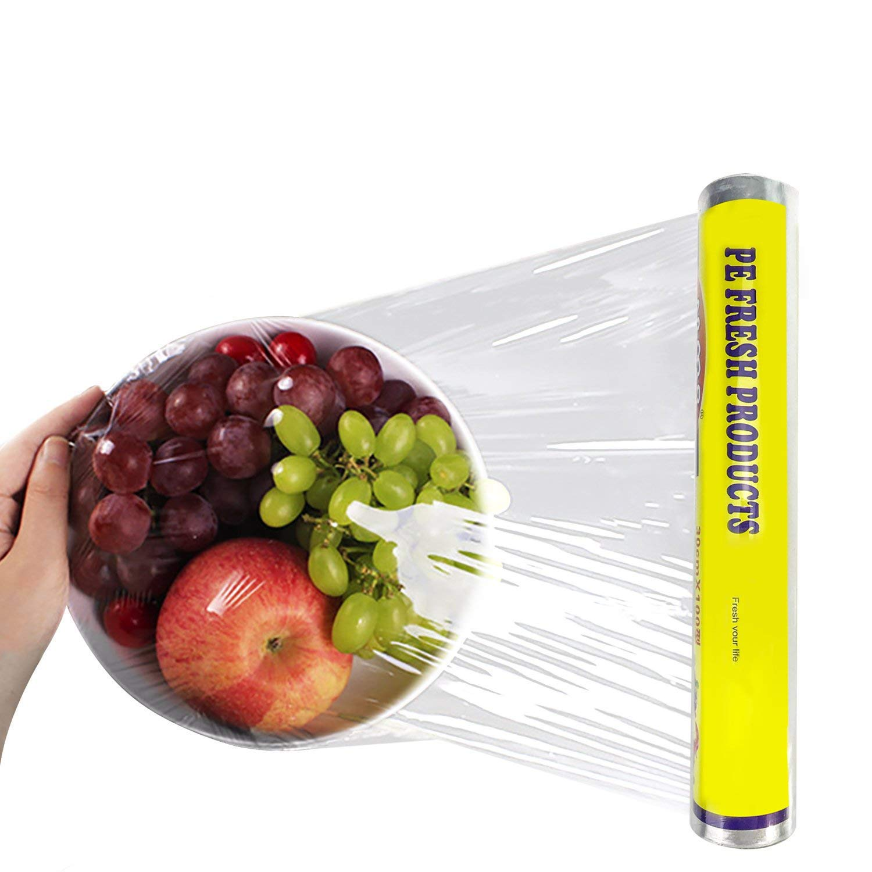 Topgalaxy.Z Food Plastic Wrap - Cling Wrap-Plastic Wrap Refill Roll , 5 pack, 325 Feet