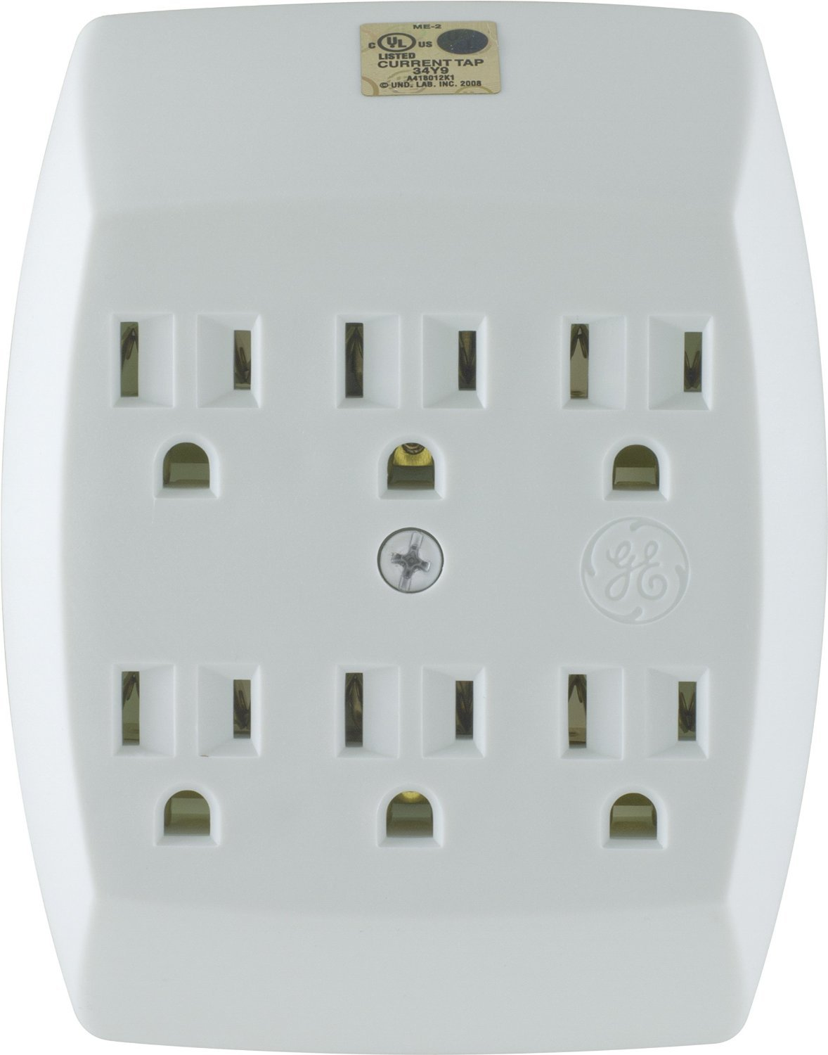 General Electric 54947 3 Pack 6-Outlet Grounded Tap, White
